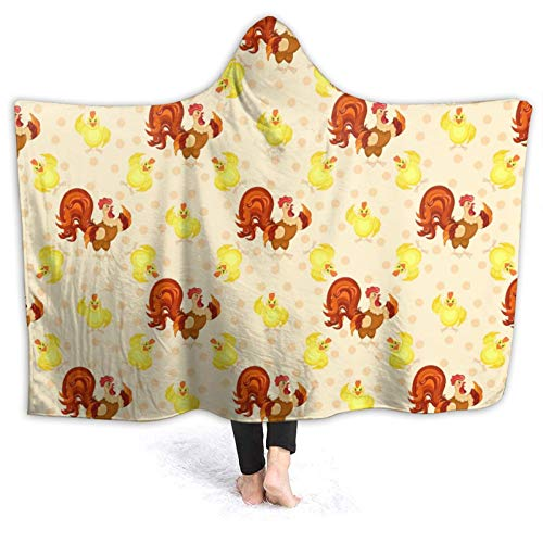 Fleece Cute Colorful Chicken Rooster Cock Throw Blanket Lightweight Super Soft Flannel Bed Blanket Perfect Home Decor for Couch Chair Sofa Living Room 60' X50