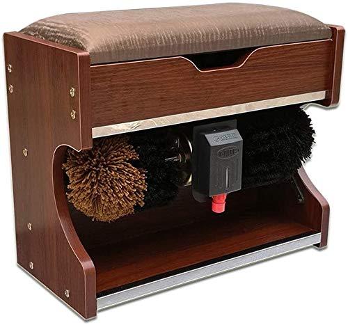YWAWJ Shoe máquina pulidora hogar automático de Calzado eléctrico pulidora máquina de inducción automática Zapato Cepillado máquina Zapato Lavado betún Cambiar heces (Color : B)