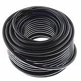 Cable de altavoz redondo 2 x 2,5 mm², negro, 25 m, CCA - PA de instalación, cable de audio, cable de caja