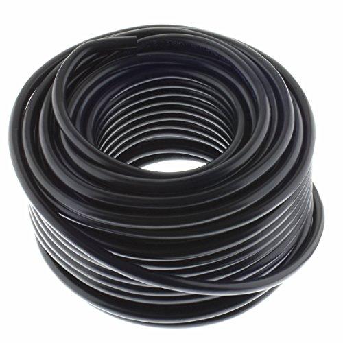 Lautsprecherkabel RUND 2x2,5mm² - schwarz - 25m - CCA - PA Installationskabel - Audiokabel - Boxenkabel