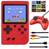 Handheld Game Console, Retro Mini Game Player with 400 Classical Games 3 inch Screen Video Games Console Support for Connecting TV & Two Players1020mAh Rechargeable Battery Gift for Kids Boy Adult