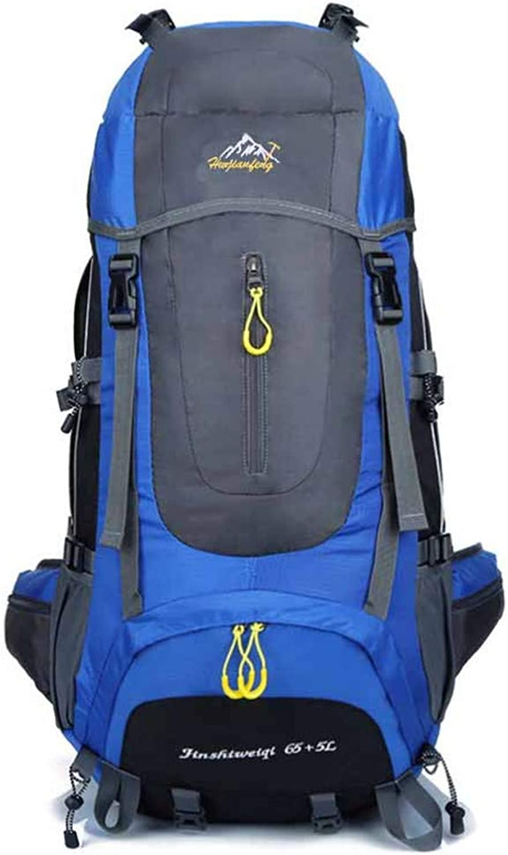 LUCKGXY Sport-Bergsteiger-Beltet, 655L Large-Capacity Waterproof Laptop Rucksack für Outdoor Camping Trekking Trekking Jagd, Etc,Blau B07QF24BD1  Gesunder Rhythmus