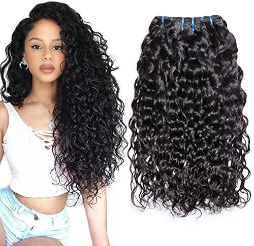 Musi pelo Brasileño humano Wave Wave 3 Bundles Grado 8A pelo Virgin cabello humano Weave 20 22 24 extensiones de cabello natural Black 95-100g / pc