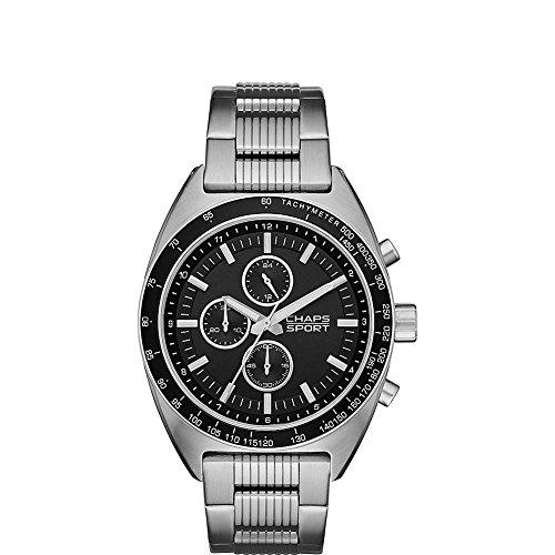 Chaps Rockton - Reloj de cuarzo para hombre, acero inoxidable, color plateado (modelo: CHP7006)