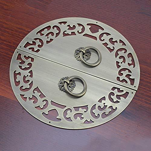 Chinesische Antik Türklopfer,reines Kupfer Runde Platte Anti-rost Prägung Solide Hardware-befestigung Tor Klopfer Door Griffe-c 20cm(8inch)