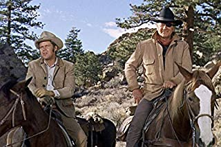 John Wayne and Glen Campbell in True Grit on Horses Classic Western 1969 24x18 Poster
