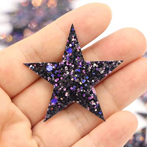 10 unids / lote, parches de estrellas brillantes para coser, pegatinas para planchar, insignias, apliques para ropa, bolsa, tela, accesorios de costura para manualidades DIY, suministros para el hogar
