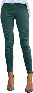 NOBRAND 2020 Nuevas Mujeres Jeans Legging Azul Rayas Impresión Legging Mujeres Imitación Jean Slim Fitness Legging Elástic...