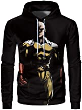One Punch Man Anime Funny Cool Teens Adults Unisex 3D Print Soft Big Pocket Cap Polyester Hoodie Sweater