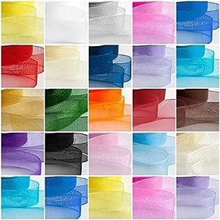 Hochwertiges Organzaband mit eingewebtem Saum, Rollen zu je ca. 45 MeterErhältliche Breiten: 6 mm, 10 mm, 15 mm, 25 mm.-, weiß, 15 mm