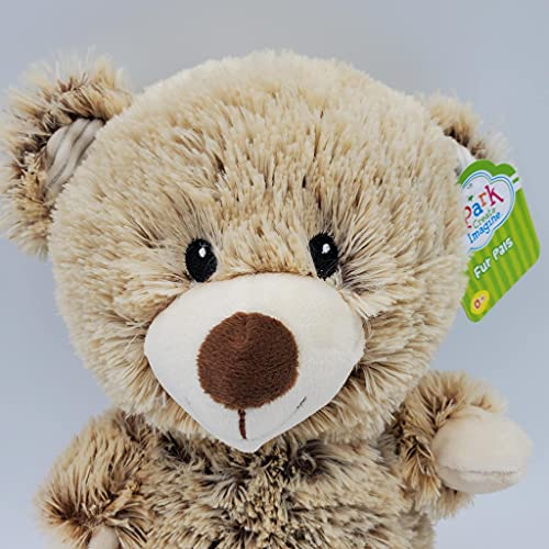 Spark Create Imagine Brown Bear Plush Stuffed Animal Rattle Crinkle Toy