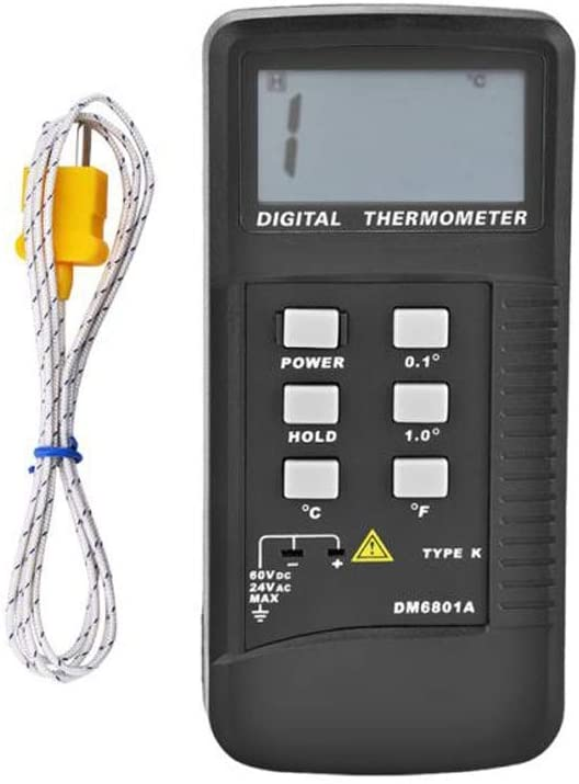 HBIN Portable DM6801A Thermometer OFFicial LCD Digital Elegant K-Type The Display