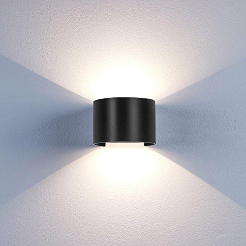 BELLALICHT LED Wandleuchte Innen Außen - 12W Aluminium Up Down Wandlampe mit Einstellbar Abstrahlwinkel Wandlicht IP65 Wasserdicht Bad Flur Kinderzimmer Treppenhaus Wohnzimmer Schlafzimmer Warmweiß