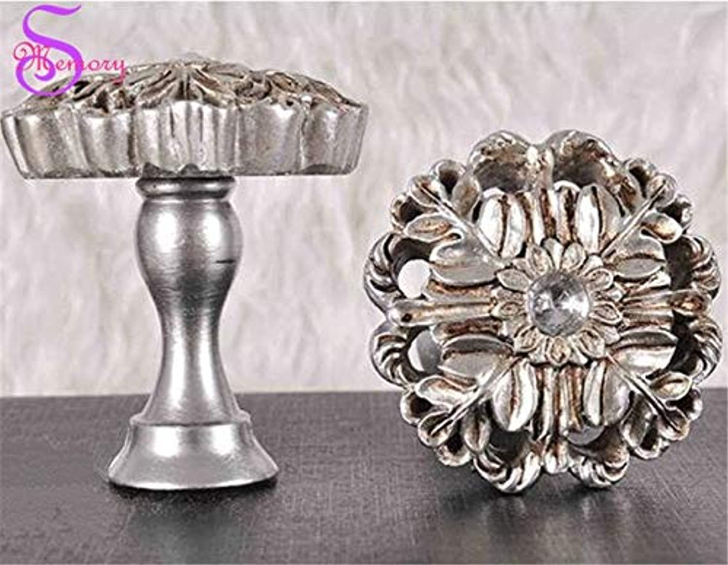 Isali Luxury Flower Curtain Tie Back Holders Vintage Tieback Wall Hat Bag Clothes Hooks Hanger Home Decor  (color  Silver)