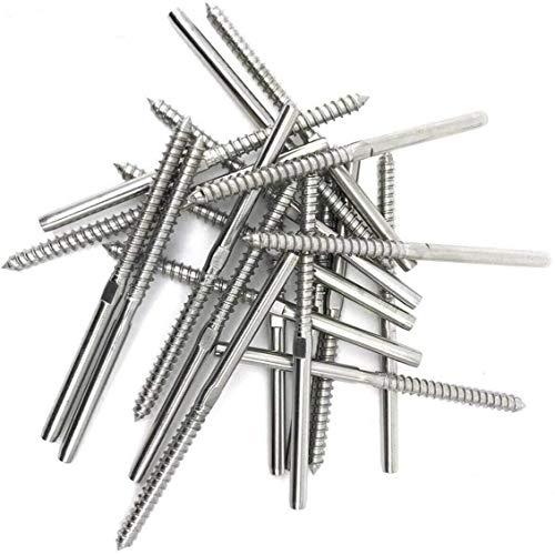 Lag Screw Hand-Crimp Swage Stud Fitting Terminal Thread for 1/8