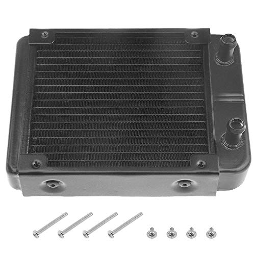 BXQINLENX 18 Pipe Aluminum Heat Exchanger Radiator for PC CPU CO2 Laser Water Cool System Computer 120mm(A)