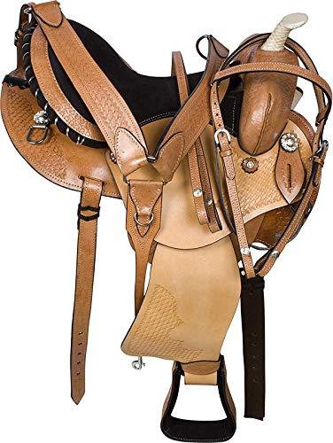 Wonder Wish Marrón GAITED Western Pleasure Trail Endurance - Sillín de piel para caballo