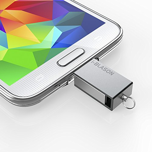 i-Blason Ultra Slim [Waterproof] Micro USB 2.0 OTG Flash Drive For Android Smartphone/Tablet Samsung Galaxy S6, S5, S4, S3, S6 Edge, HTC One M9, M8, Google Nexus 6, S5, LG G4, G3, Galaxy Tab 4, Tab 3, Pro, Note 4, Note 3 (32 GB)