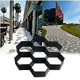 MASTER TRADE 11.5' x 11.5' Cement Mold,Reusable Garden Pavement Mold Hexagon Concrete Path Mould Paving Walk Maker for Garden, Court Yards, Patios and Walks
