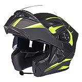 JL-Q Casco De Motocicleta Casco De Doble Cara para Hombres Y Mujeres con Casco Abierto Bluetooth...