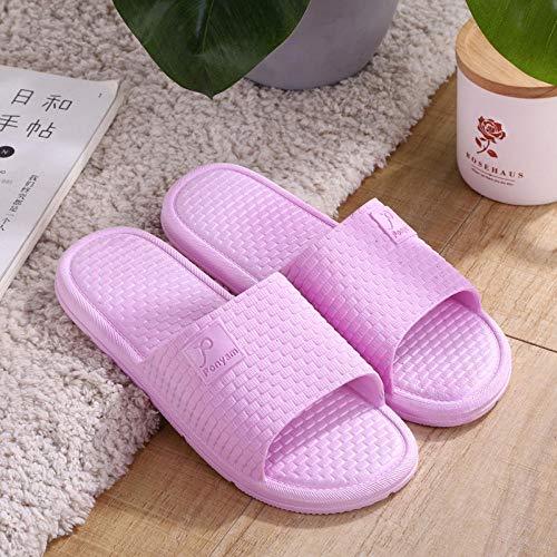 TDYSDYN Zapatos de Playa y Piscina,Zapatillas de baño Antideslizantes, par de Zapatillas de plástico para Interiores y Exteriores.-púrpura_44-45