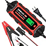 GOOLOO S10 6V/12V Smart Car Battery Charger Automotive, 10 Amp Automatic Trickle Charger and Maintainer with Supply Mode, IP65 Water-Resistant for Truck SUV Lawn Mower Boat RV ATV Lead-Acid Battery