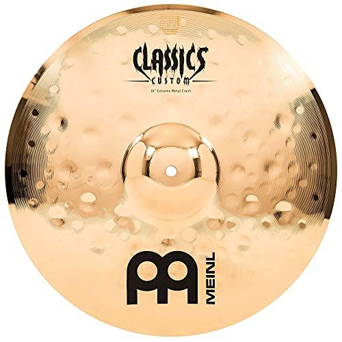 Meinl Classics Custom Extreme Metal 16 Zoll (40,64cm) Crash Becken für Schlagzeug – B10 Bronze, brilliantes Finish, Made in Germany (CC16EMC-B)