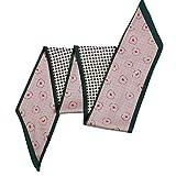 シルクフィールスカーフ スカーフとショール - 純粋な色の鋭角のシルクスカーフと鯉のぼりの女性春と秋の装飾の模造シルクHレタースモールスカーフ 軽量のファッションスカーフ (Color : No. 4, Size : 135-175CM)