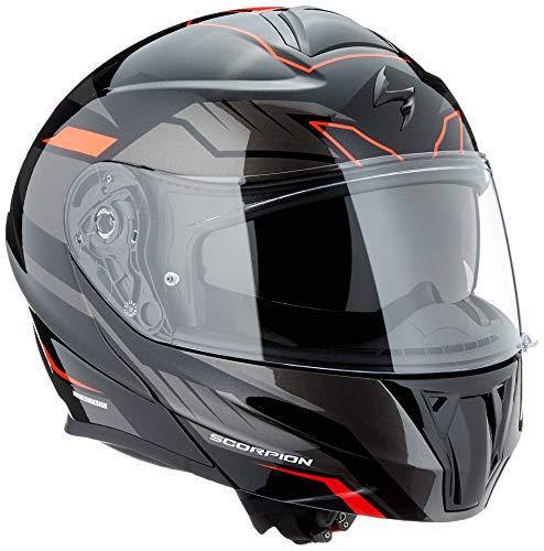Scorpion Casco moto EXO-920 Shuttle Nero-Argento-Rosso XXXL