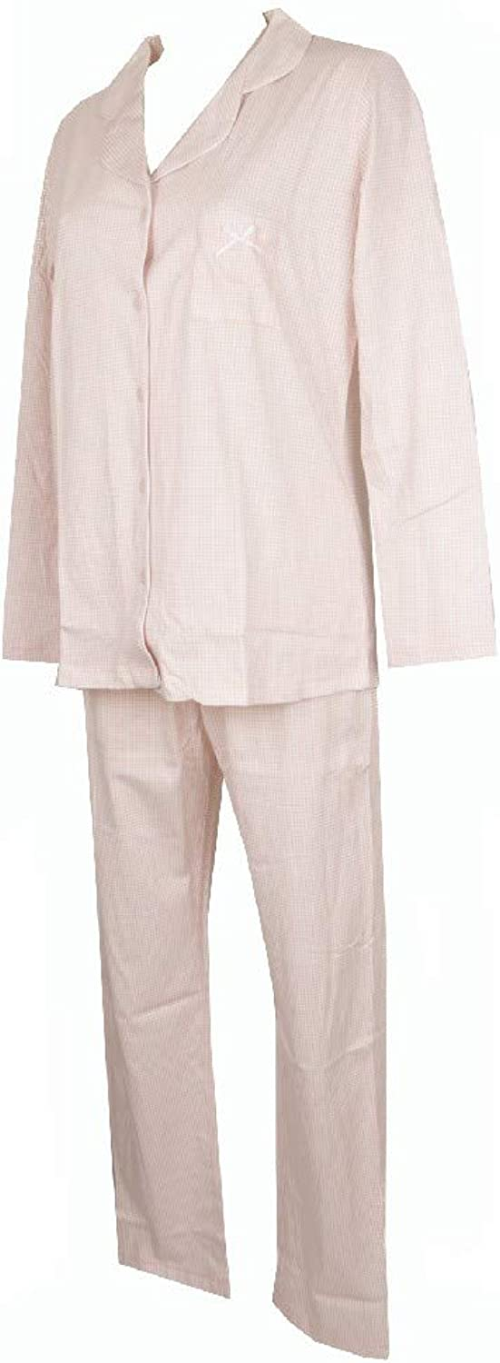 RAGNO Woman Open Pajamas with Long Sleeves Cotton Article N13932