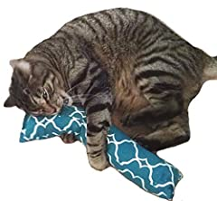 Each Kitty Kicker has a refillable catnip pocket sewn on its side so you can add fresh catnip to it when the catnip scent wears off! Each Kitty Kicker is packed with 1.25oz. fresh Canadian Catnip and Polyester Fill. Guaranteed fresh. Most Catnip Kick...