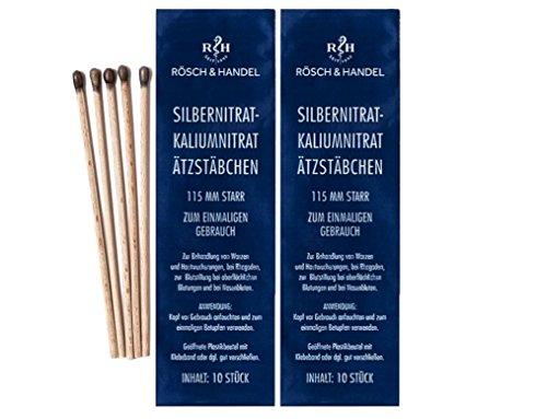Silbernitrat Kaliumnitrat Ätzstäbchen starr 115mm 20 Stk.