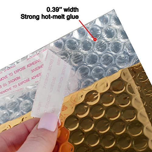 AMZ Bubble Mailers 5 x 9 Pack of 25 Gold Padded Envelopes 5x9. Self-Adhesive Closure. Metallic Shipping Bags for Mailing, Packing #00 25 Pack Photo #9