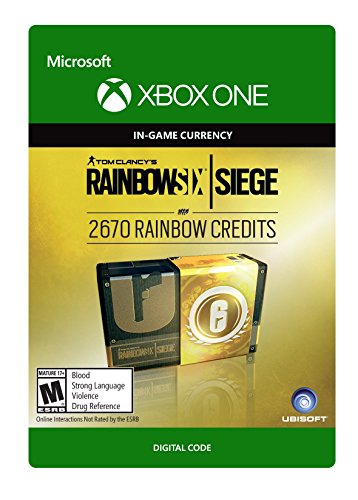 Tom Clancy's Rainbow Six Siege Currency pack 2670 Rainbow credits - Xbox One [Digital Code]