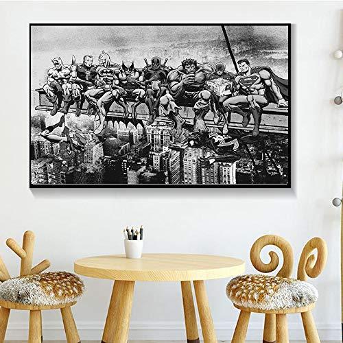 ganlanshu Moderne Wandkunst-Hauptdekorationsmalerei des Anime-Helden heißen Filmplakats auf Leinwand,Rahmenlose Malerei,40X60cm