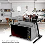 Soporte para microondas Estanteria Cocina para Horno De Microondas De Pie Microondas Organizador Horno Estante 57 x 34 x 38cm (Negro)