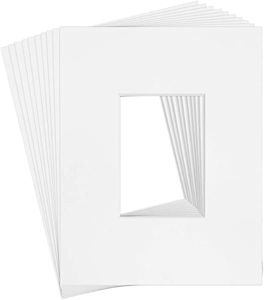 10 11x14 8 Ply White Picture Mats For 5x7 Photo Picture