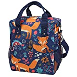 Anpro Fox Lunch Bag - Insulated Cooler Bag for Adults with Adjustable Shoulder Straps, Picnic Lunch Box Kit for School/Camping/Fishing/Barbecues, Blue(25x16x30cm)