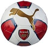 PUMA Arsenal Ballon Loisir Homme, White/High Risk Red/Gold/Estate Blue, 5