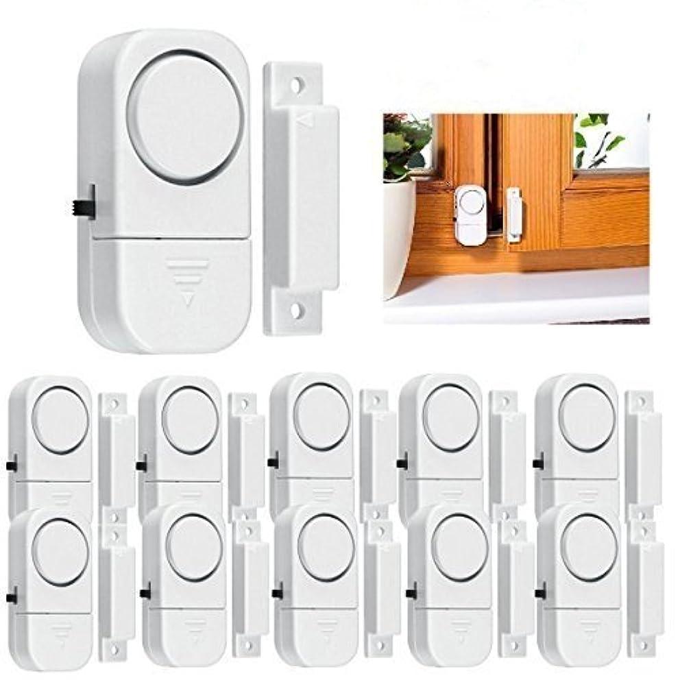 10 Pack Wireless Alarm DIY Kit Wireless Home Security Door Window Burglar Alarm - Magnetic Sensor - Window Glass Vibration Security Burglar Alarm Homes
