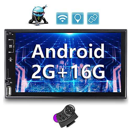 [2G+16G] Android Autoradio 2 Din GPS Bluetooth CAMECHO 7-Zoll Touchscreen USB AUX SD/TFMKartensteckplatz WiFi FM Radio Spiegelverbindung Doppel Din Autoradio