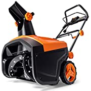 TACKLIFE Snow Blower, 15-Amp, Electric Snow Thrower, 20-in Working Width, 180°Chute Rotation, 30-FT Throwing Distance