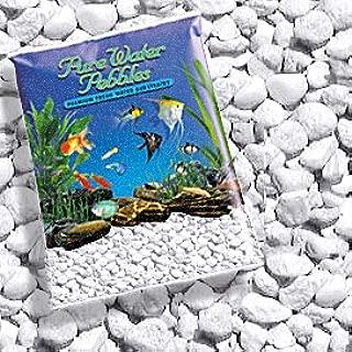 Pure Water Pebbles Platinum White Frost Aquarium Gravel, 5-LB, Colored Fish Tank Gravel