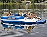 Sea-Doo 8 Person Inflatable Mega Island Lake Float W/ 4 Speaker Music System