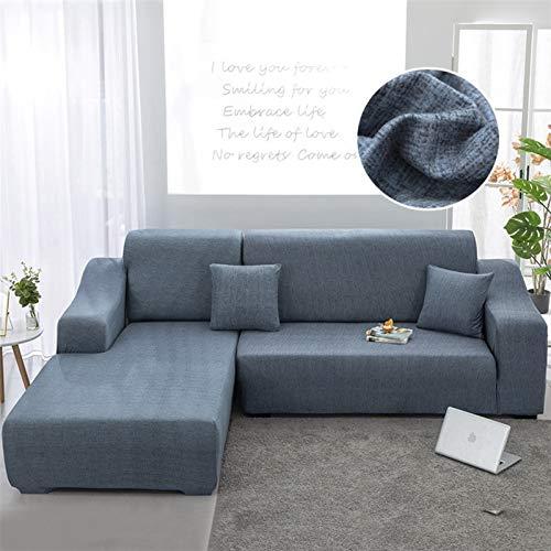 L en forma de necesidades de orden 2 piezas Sofá Cover Fundas Elasticidad Sofá Toalla Sillón cubierta for proteger los muebles Sofá de la esquina ( Color : Color 8 , Specification : Pillow case 2pcs )