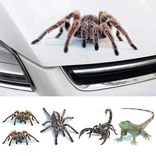 Danigrefinb Auto Stickers en Decals, 3D Spider Lizard Scorpion Auto Sticker Voertuig Raamspiegel Bumper Decor Milieu Bescherming Kleefstof Eén maat 3#