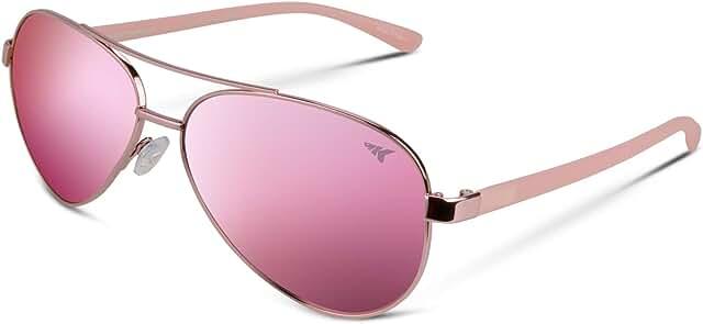 Kenai Aviator Polarized Sunglasses for Men and Women, Polarized Lenses, 100% UV Protection, Lightweight Frame