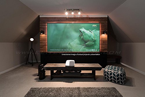 Elite Screens AEON CLR, 90' Diag 16:9, Edge Free Ceiling Light Rejecting and Ambient Light Rejecting Fixed Frame Projection Screen, AR90H-CLR