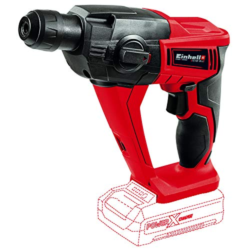 Einhell TE-HD 18 Li Power X-Change 18-Volt Cordless 1/2-Inch, 1100-RPM Rotary Hammer Drill with Shocks, Variable Speed, 1.2J Impact Power, 5700 Blows/Min, Tool Only (Battery and Charger Not Included)