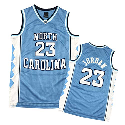 ZHAW North Carolina Jordan 23 # Camiseta de baloncesto para hombre, camiseta de baloncesto deportiva, malla retro, transpirable y de secado rápido, para uniforme de baloncesto, chaleco de baloncesto